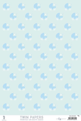 Twin Paper, Baby Blue - Hello Baby, blue