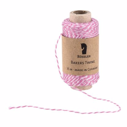 Bakers Twine, rosa/weiß 35 m