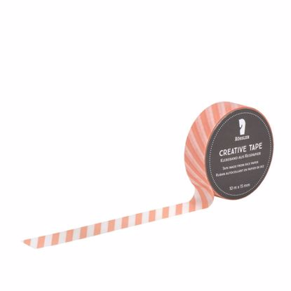 Creative Tape Apricot/transp. Querstreif