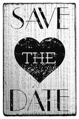 Vintage Stempel Save the date - Herz