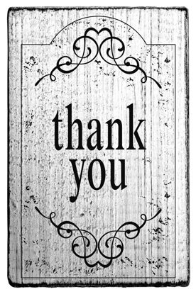 Vintage Stempel thank you - Rahmen