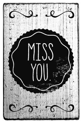 Vintage Stempel Miss you
