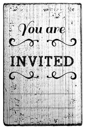 Vintage Stempel You are invited