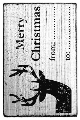 Vintage Stempel Merry Christmas  from ..
