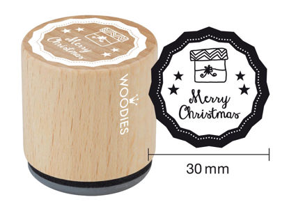 Woodies Stempel Merry Christmas