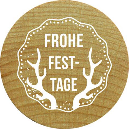 Woodies Stempel Frohe Festtage
