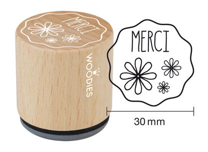 Woodies Stempel Merci