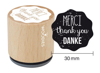 Stempel Merci thank you Danke