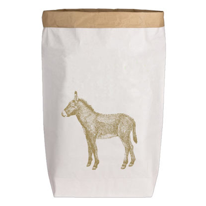 Paperbags Large weiss, ESEL, gold, 1730 - HOME - PLW