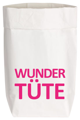 Paperbags Small weiss, WUNDERTÜTE, neon pink
