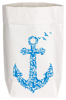 Paperbags Small weiss, MÖWEN ANKER, blau, 1730 - HOME - PSW