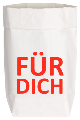 Paperbags Small weiss, FÜR DICH, rot, 1730 - HOME - PSW