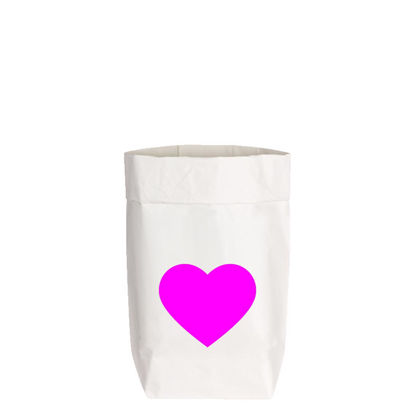 PaperBags Small weiss, HERZ (voll), pink, 1730 - HOME - PSW