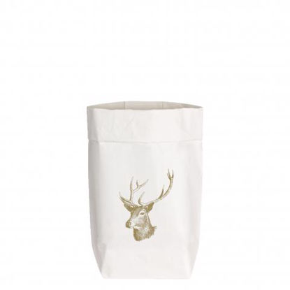 PaperBags Small weiss, VINTAGE HIRSCH, g1730 - HOME - PSW