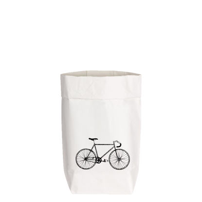 PaperBags Small weiss, FAHRRAD, grau, 1730 - HOME - PSW