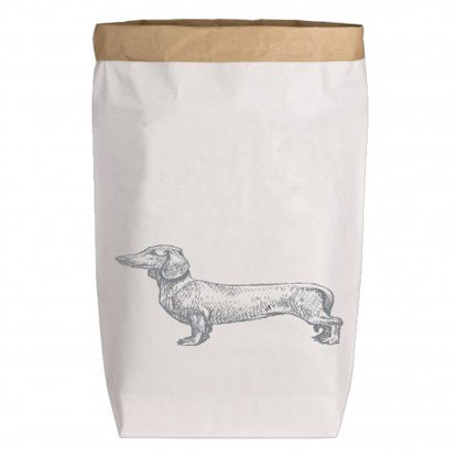 Paperbags Large weiss, DACKEL, grau1730 - HOME - PLW