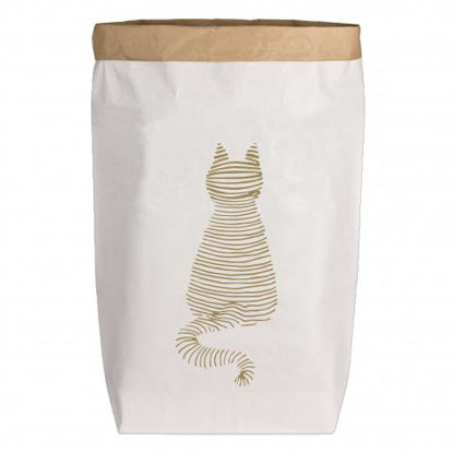 Paperbags Large weiss, KATZE, gold1730 - HOME - PLW