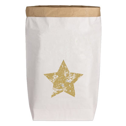 Paperbags Large weiss, STERN, gold, 1730 - HOME - PLW