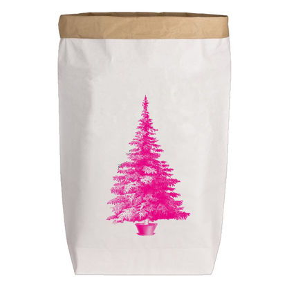 Paperbags Large weiss, WEIHNACHTSBAUM, neon pink, 1730 - HOME - PLW