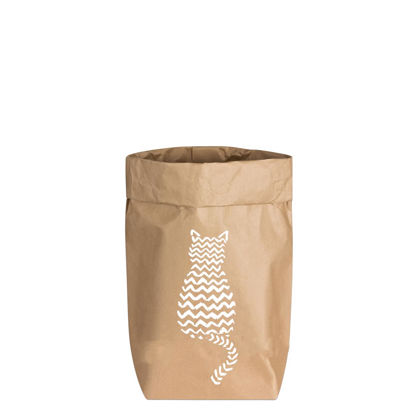 Paperbags Small natur, KATZE, weiss, 1730 - HOME - PSW