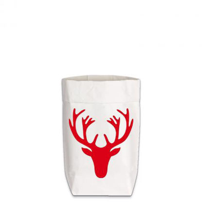 Paperbags Small weiss, GEWEIH, rot1730 - HOME - PSW