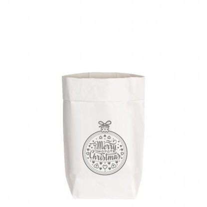 Paperbags Small weiss, CHRISTBAUMKUGEL,1730 - HOME - PSW