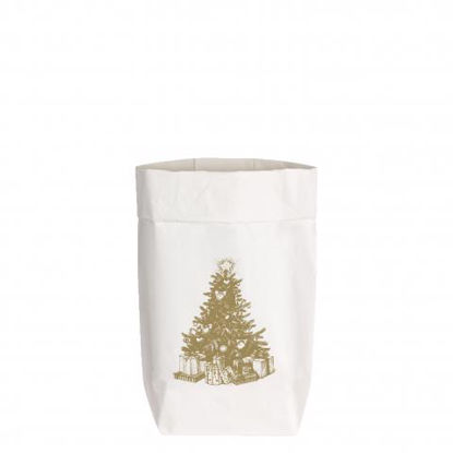 PaperBags Small weiss, WEIHNACHTSBAUM, m1730 - HOME - PSW