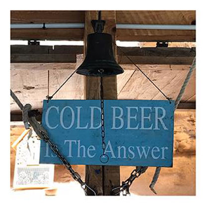 Hey!Cards Cold Beer is the Answer quadr. Postkarte 12,1x12,1cm