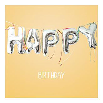 Hey!Cards KK Birthday Ballons quadr. Doppelkarte m. Couverts, 12,5x12,
