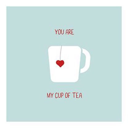 Hey!Cards KK Cup of tea quadr. Doppelkarte m. Couverts, 12,5x12,