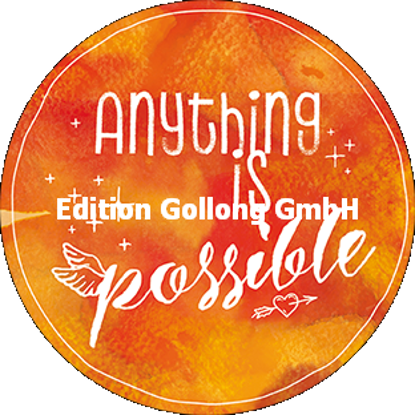 Anything is possible (Aquarell)/Postkarten qu./rund 140x140mm/Diverse Gr