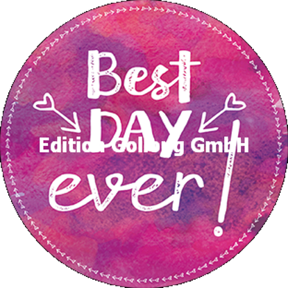 Best day ever (Aquarell)/Postkarten qu./rund 140x140mm/Diverse Gr