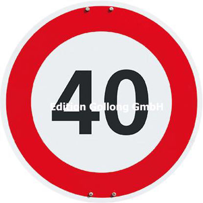 40 (Schild) /  Can Stock Photo-EggHeadPh Postkarten qu./rund 140x140mm/Neutral /