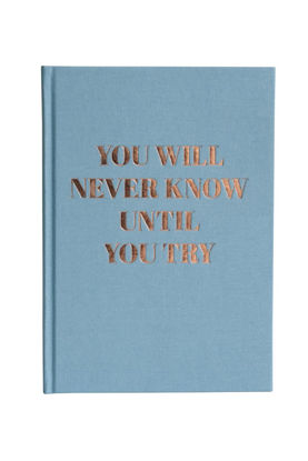 "Tagebuch """"you will never know"""", Goldprägung / dotted"