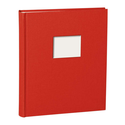 Album Medium Finestra red mit Fenster 8 x 6 cm