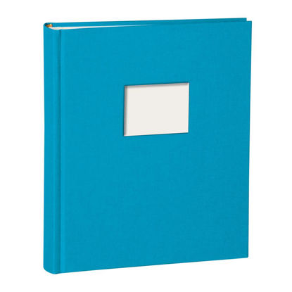 Album Medium Finestra turquoise mit Fenster 8 x 6 cm