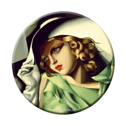 """Taschenspiegel Lempicka """"Young lady with 8.5x11.5x0.7cm"""