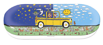 """Brillentui """"James Rizzi"""" Taxi and some p 16x6.7x3.1cm"""