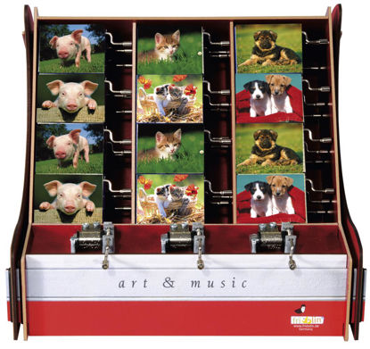 art&music, Box Tierkinder, 6 Bildmotive, 28x26x28cm