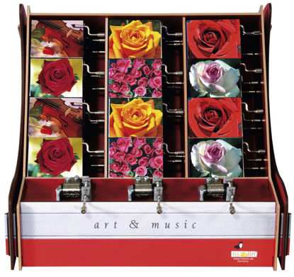 art&music, Box Rosen, 6 Bildmotive, 3 Me 28x26x28cm