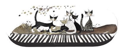 "Brillentui ""Rosina Wachtmeister"" Cats Se 16x6.7x3.1cm"