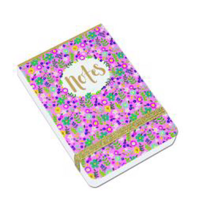A7 Mini Notepads - Notes/Pink floral A7 Mini Notepads