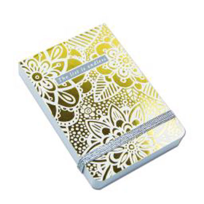 A7 Mini Notepads - Lustre Gold Floral A7 Mini Notepads