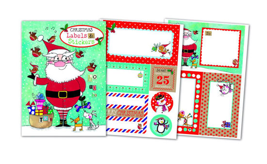 Christmas Labels and Stickers - SantaSortiment 1-2016