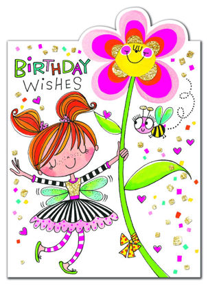 Cherry on Top - Birthday Wishes/Fairy & Doppelkarte mit Couvert