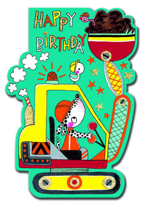 Little Darlings - Happy Birthday Digger Doppelkarte mit Couvert