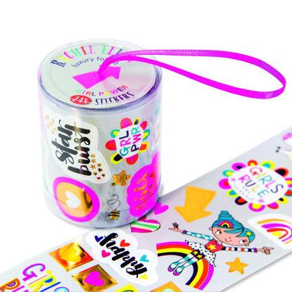 Rolls of Stickers - Girl Power