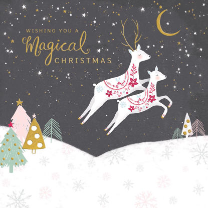 Holly Jolly - Christmas Magical Deer Sce 149mm x 149mm