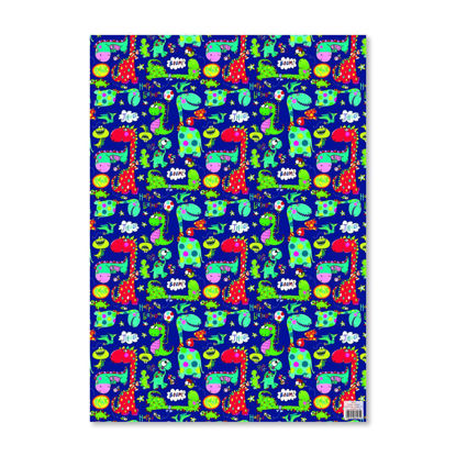 Gift Wrap - Dinosaurs on navy