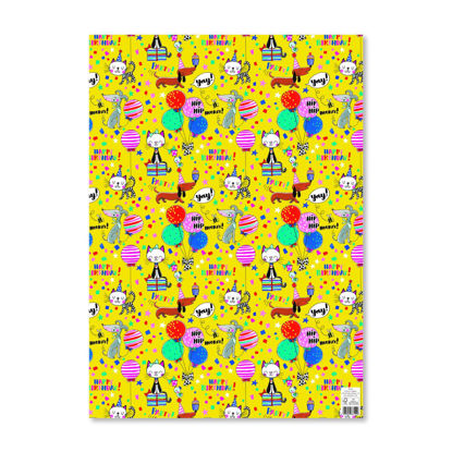 Giftwrap - Happy Birthday Cats & Dogs